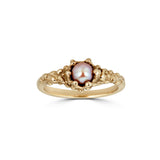 Pearl Pinky Ring, 14k