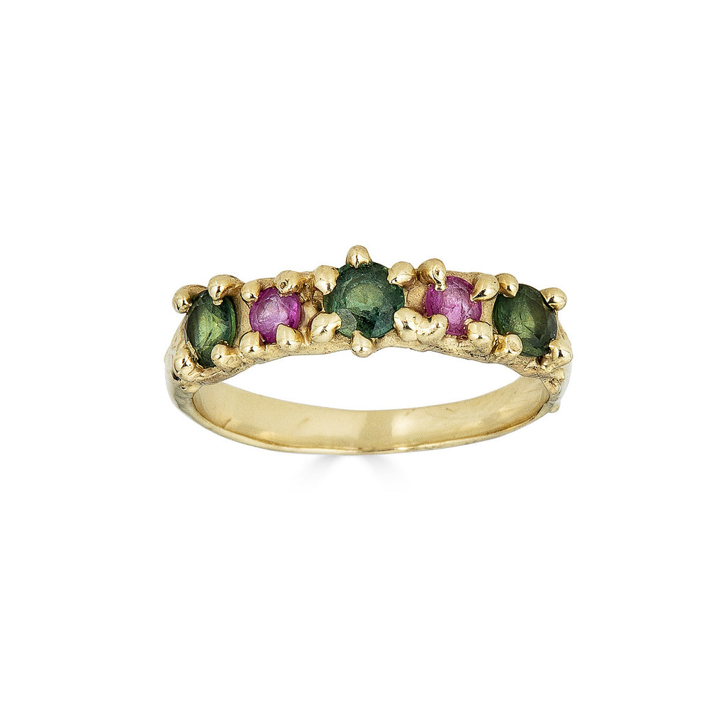 Multicolored Sapphire Rings