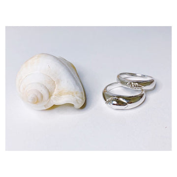 Seashell Ring, Silver