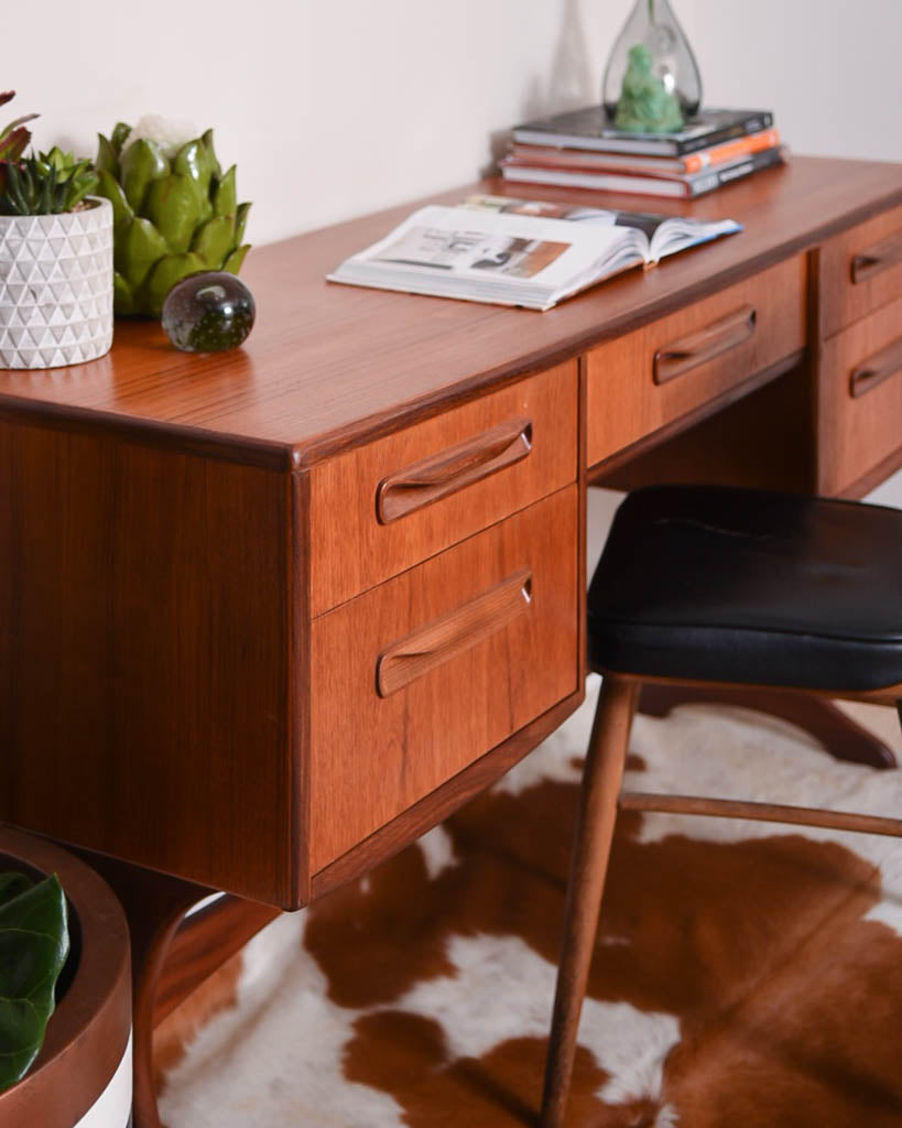 Mid-Century G Plan Victor Wilkins Teak Fresco Desk Dressing Table