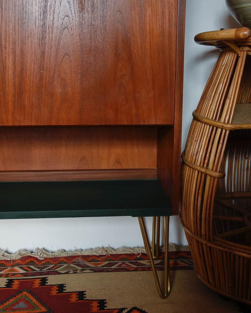Mid Century Teak Bookcase / Cocktail Cabinet