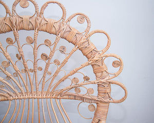 Boho Peacock Victorian Wicker Chairs