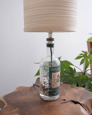 Vintage Sipsmith Gin Bottle Table Lamp