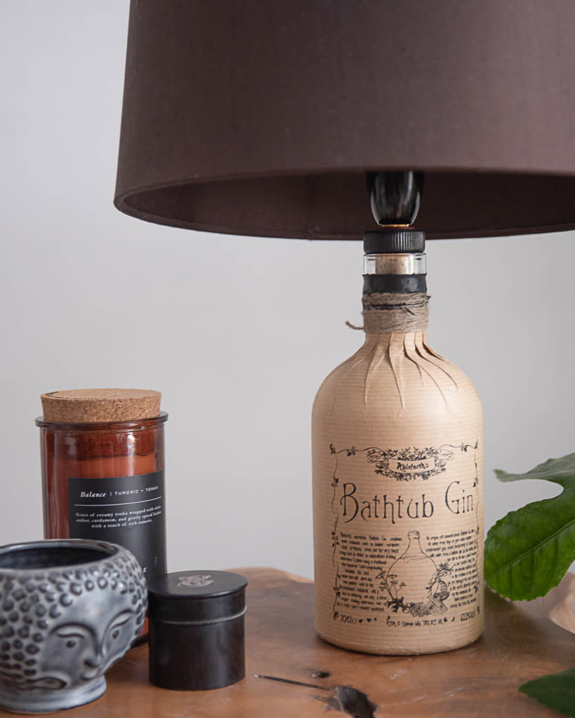 Vintage Bathtub Gin Bottle Table Lamp