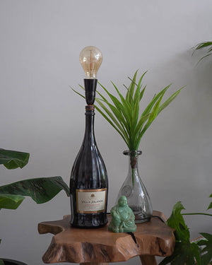 Vintage Prosecco Bottle Table Lamp