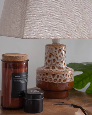 German Ceramic Table Lamp (Fat Lava)