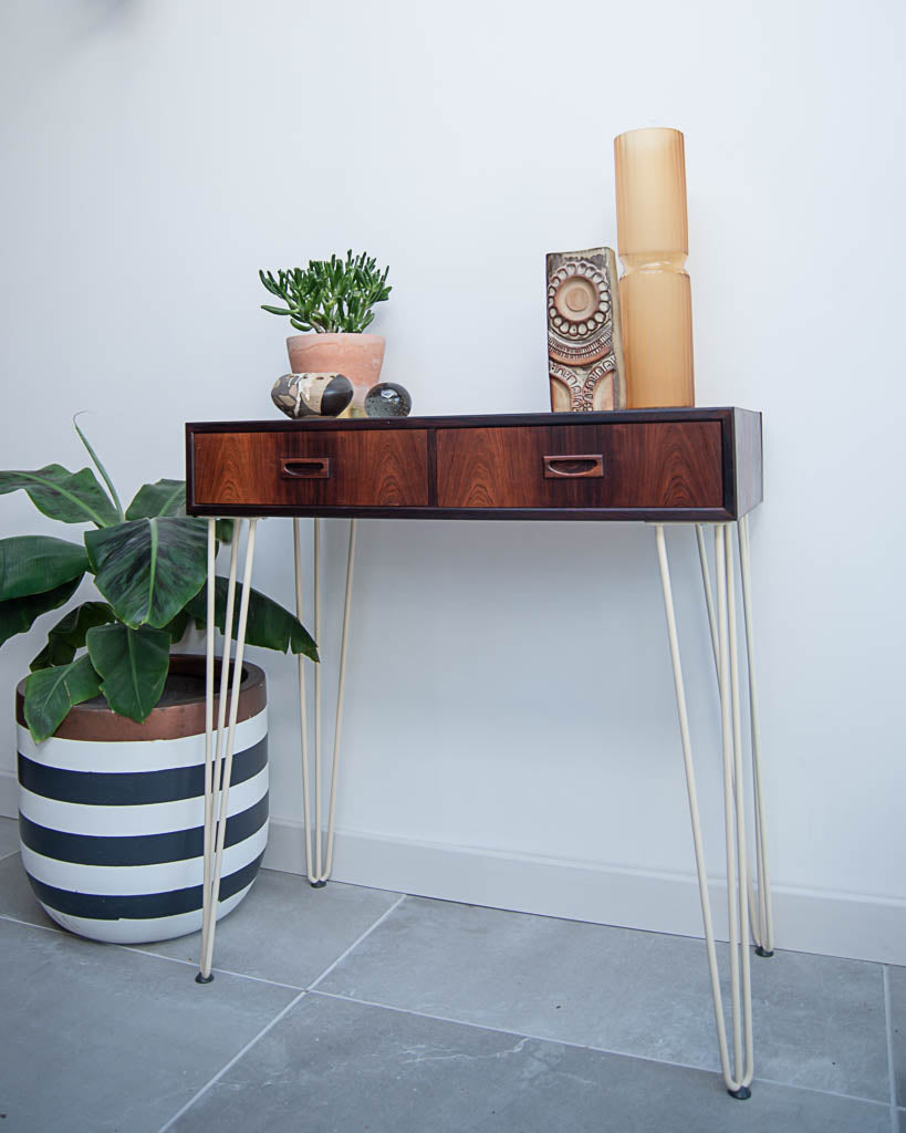 Mid Century Rosewood Console Table