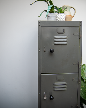 Industrial Vintage Metal Locker