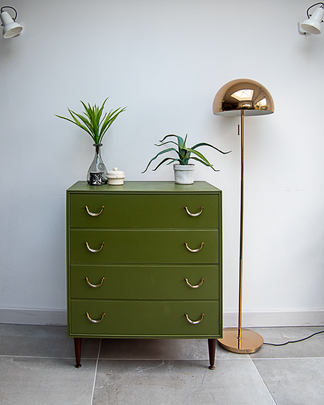 Mid Century Chest of Drawers (Wild Cactus)