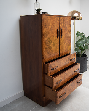 Art Deco Tallboy / Cocktail Cabinet