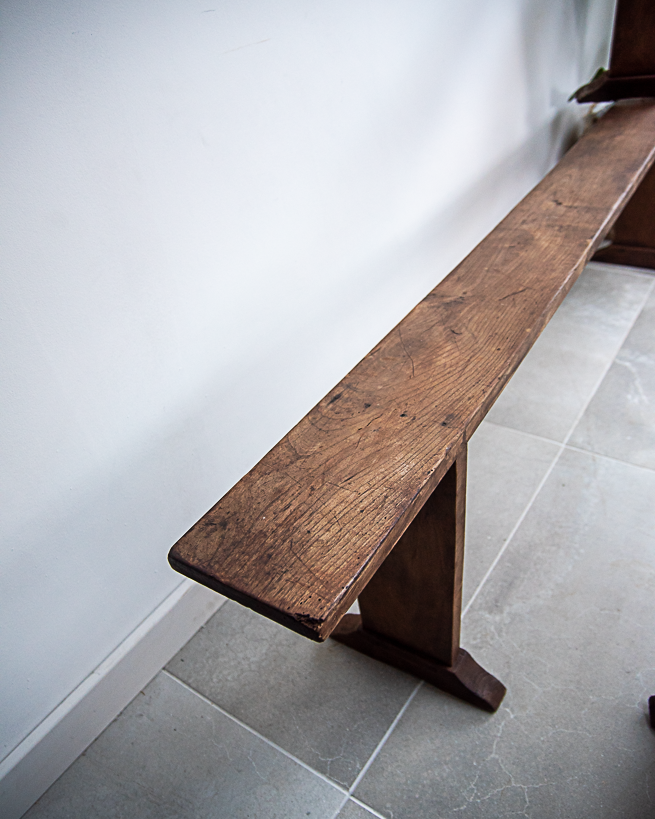 19th Century Elm Wood Benches (Pair)
