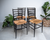 Chiavari Spinetto Style Ebonised Ladder-back Dining Chairs