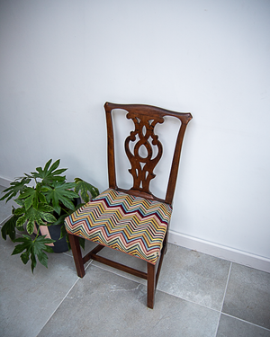 Georgian Dining Chair With Tapestry Seat