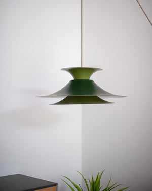 Danish Plug & Hang Pendant Light (Green)