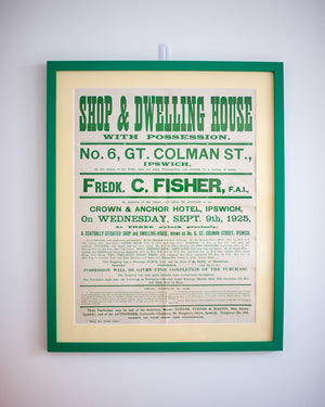 Framed Ipswich Auction Poster (Green)
