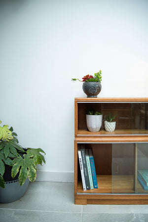 Minty Oak Stacking Bookcase (Glass Doors)