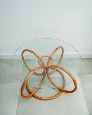 Habitat Vintage Bamboo & Glass Coffee Table