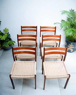 Mid Century Danish Dining Chairs (Set of 6)