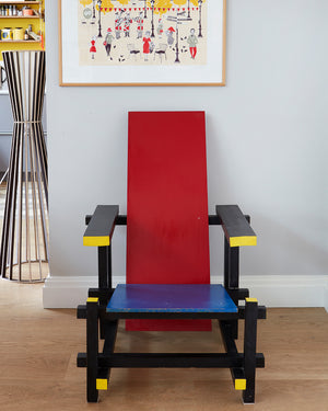 Gerrit Rietveld Red & Blue Chair
