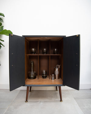 Mid Century Small LP Record / Cocktail Cabinet
