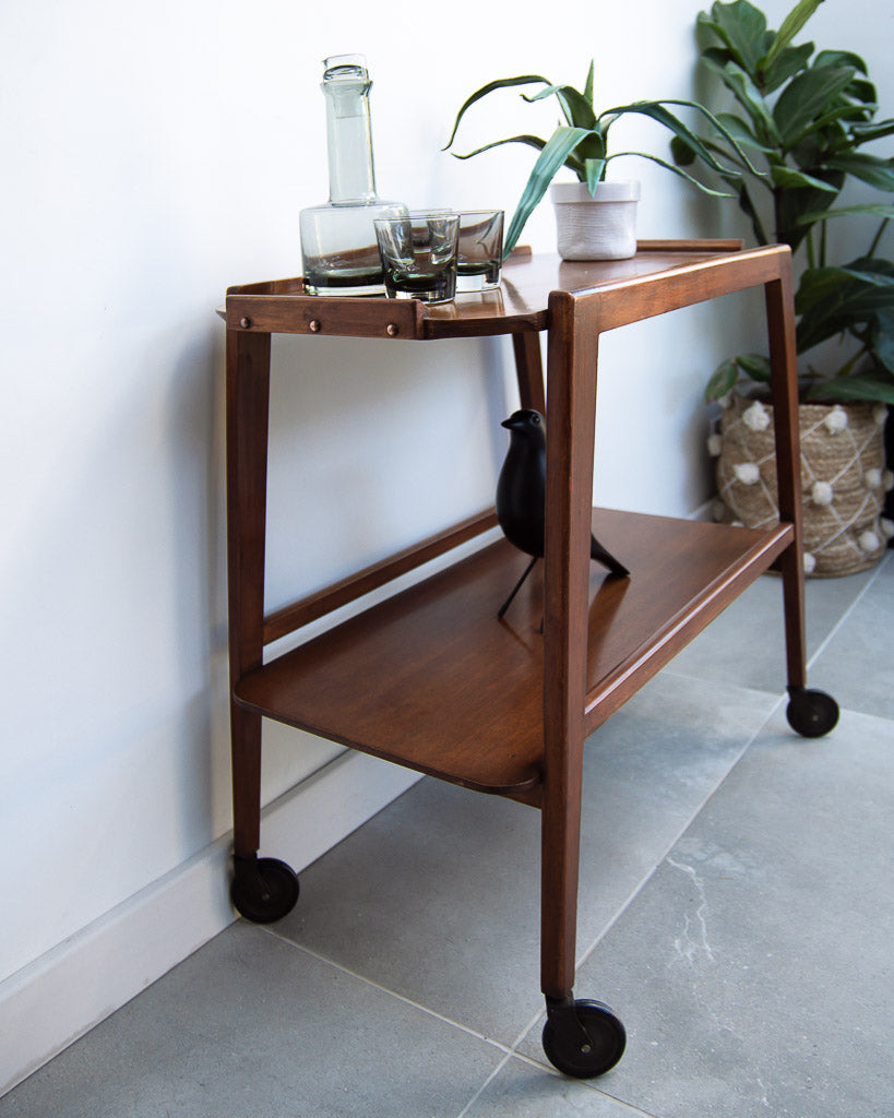 Mid Century Teak Tea / Cocktail Trolley