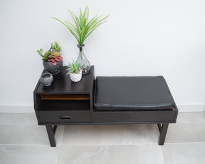 Mid Century Ebonised Telephone Plant Table