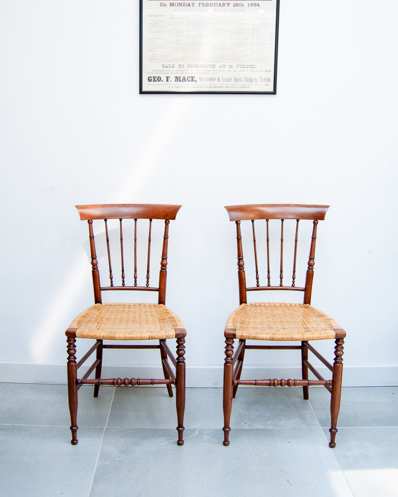 Victorian Turned Cane Chairs