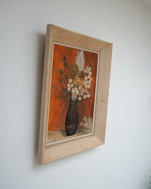 Vintage Still Life Framed Oil Painting