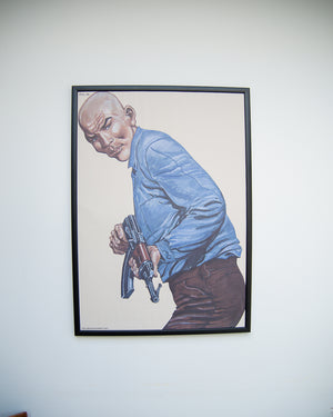 Law Enforcement Shooting Gallery Poster & Frame (PJL020)