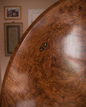 Victorian Walnut Burr Tilt Top Breakfast Table
