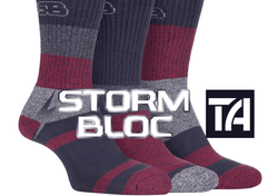 Saturday Special - Storm Bloc Mens Breathable Anti-Blister Cotton Socks ** SAVE £5 **