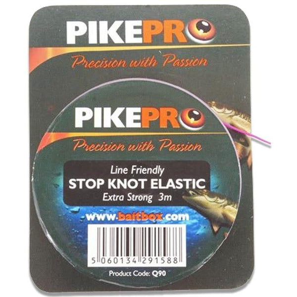 PikePro Stop Knot Elastic 3m - taskers-angling