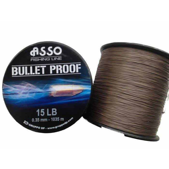 Asso Bullet Proof Line 4oz Spool Brown - taskers-angling