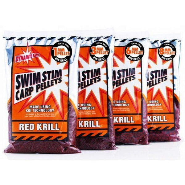 Dynamite Swimstim - Red Krill - Pellets 900g - taskers-angling