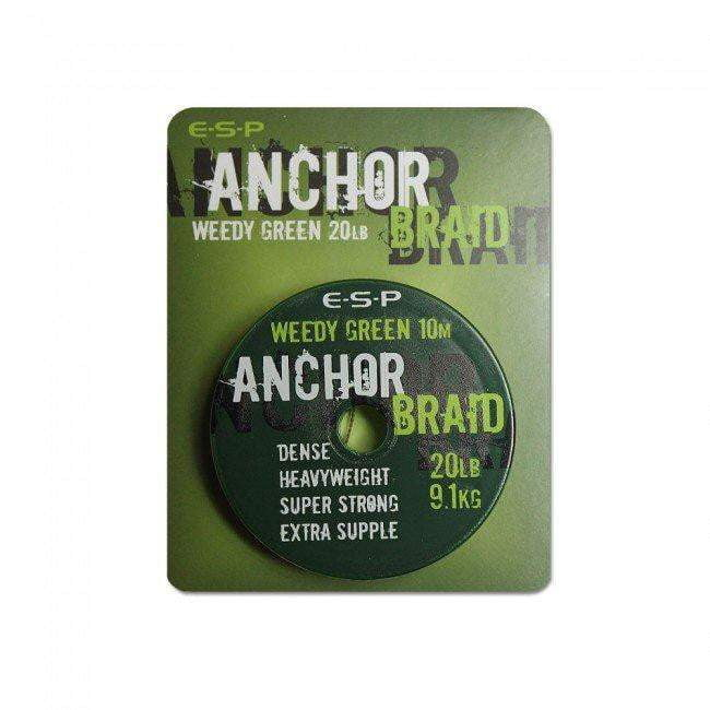 ESP Anchor Braid Weed Green - taskers-angling