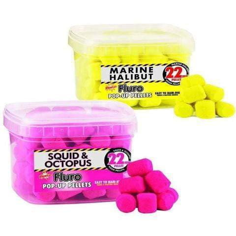 Catfish Pop Ups - Yellow Fluro Marine Halibut 22mm - taskers-angling