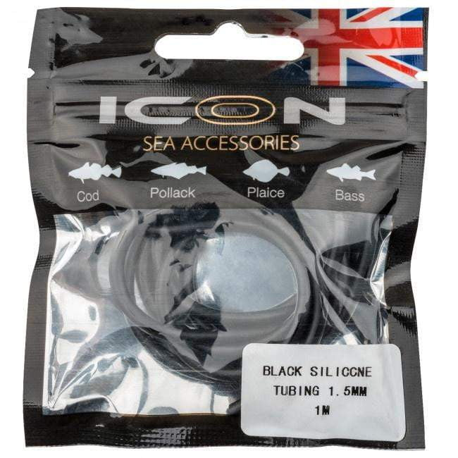 Icon Black Silicone Tubing 1.5mm - taskers-angling