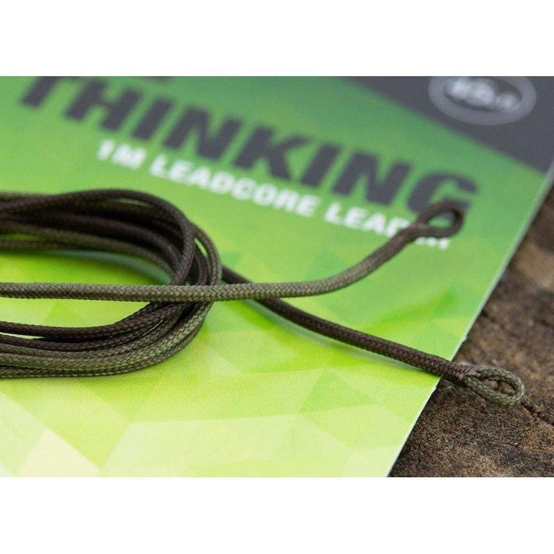 THINKING ANGLERS 1M LEADCORE LEADER 45LB  OLIVE CAMO - taskers-angling