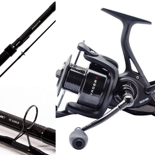 Sonik Xtractor 9'3lb tc Combo with Vader X 5000 FS Reel - taskers-angling