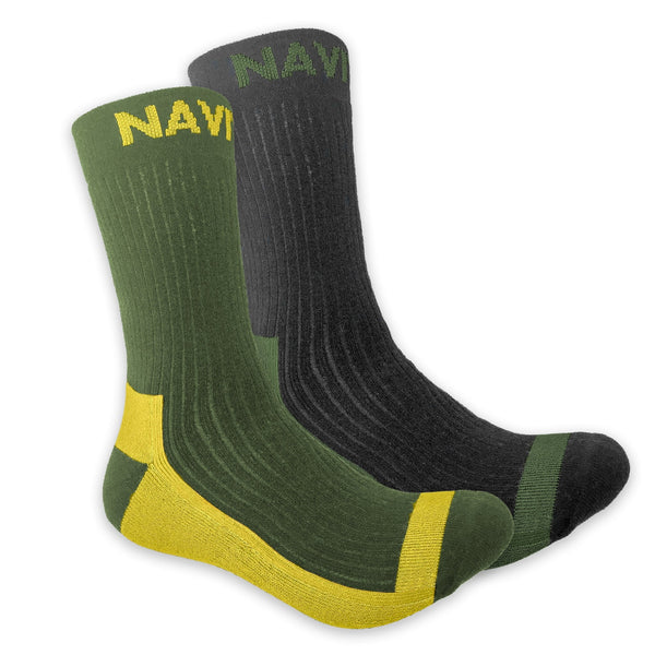 Navitas NVTS Coolmax Crew Sock Twin Pack 7/11 - taskers-angling