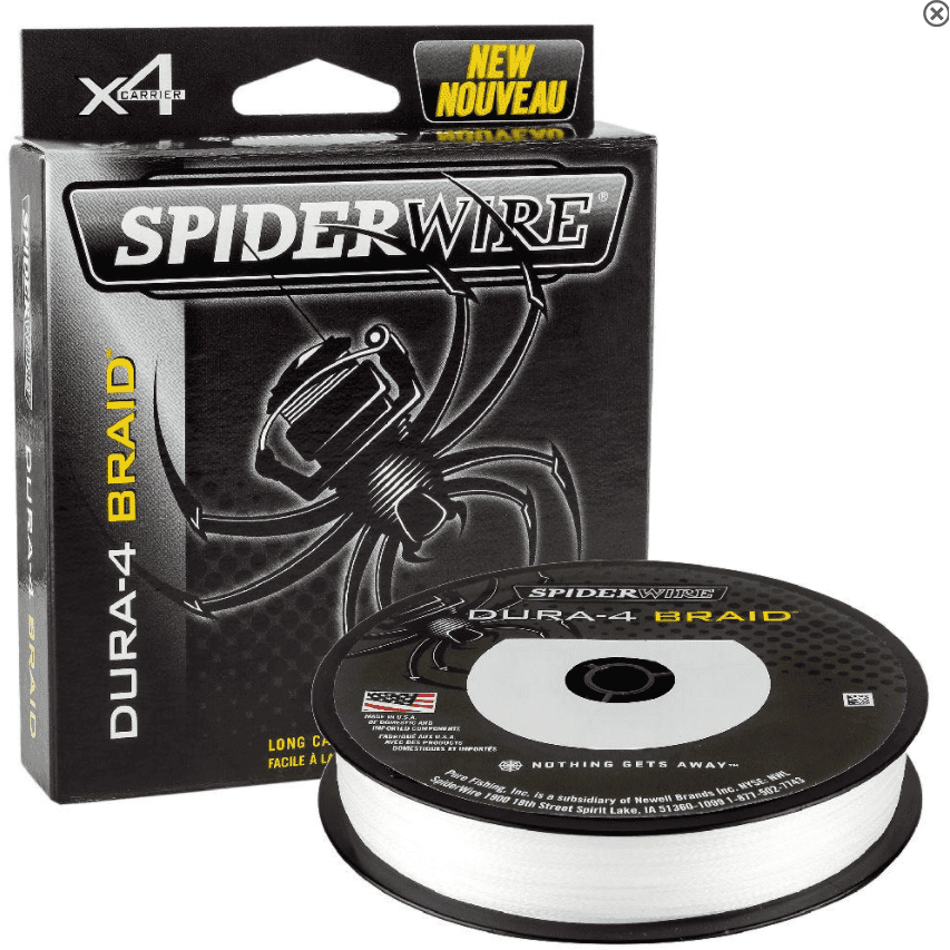 Spiderwire Dura-4 Braid 300m Translucent - taskers-angling