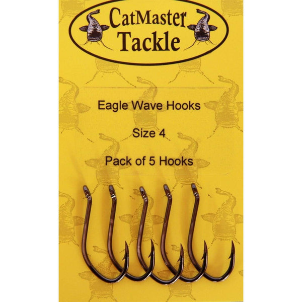 CatMaster Eagle Wave Hooks Barbed - taskers-angling