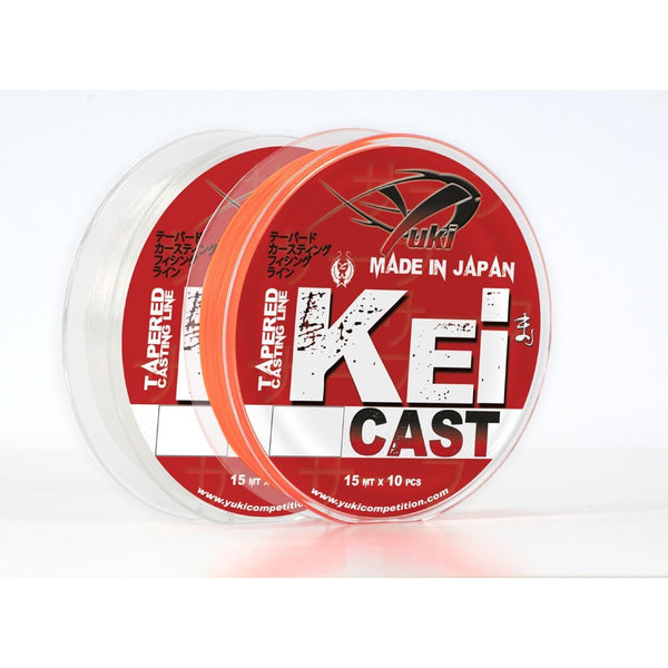Yuki Kei Cast Tapered Leaders Orange 0.26mm-0.57mm