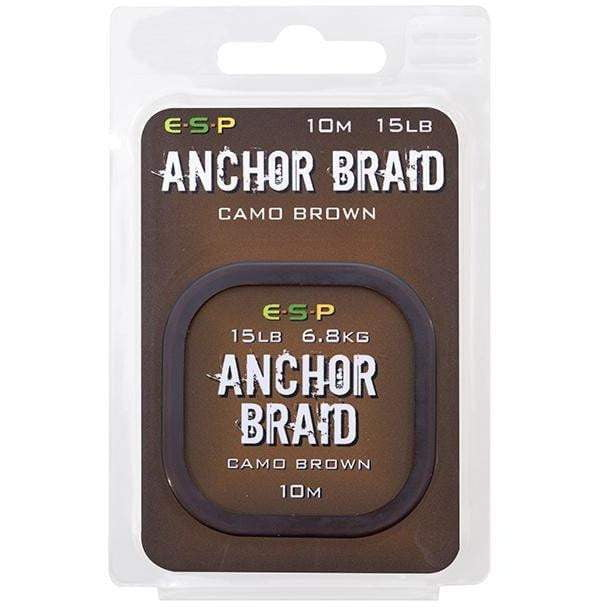 ESP Anchor Braid Gravel Brown - taskers-angling