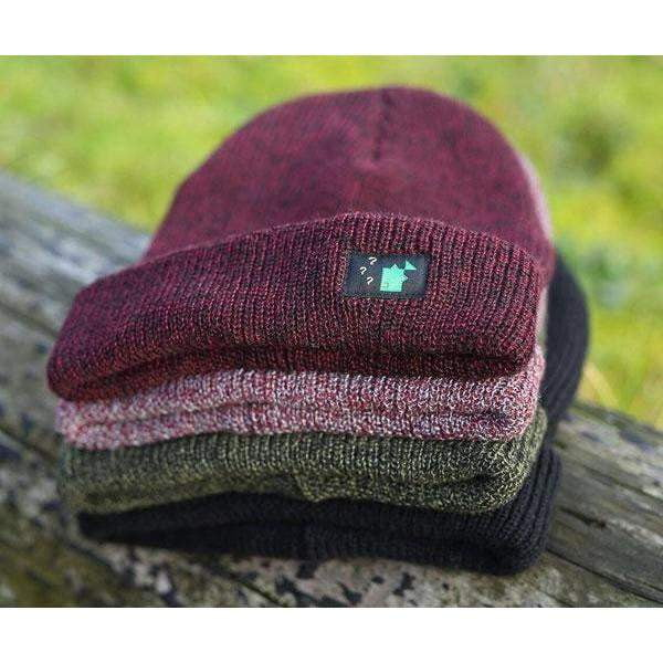 THINKING ANGLERS BEANIE HEATHER BURGUNDY - taskers-angling