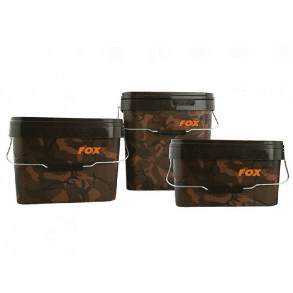 Fox Camo Square Bucket - taskers-angling