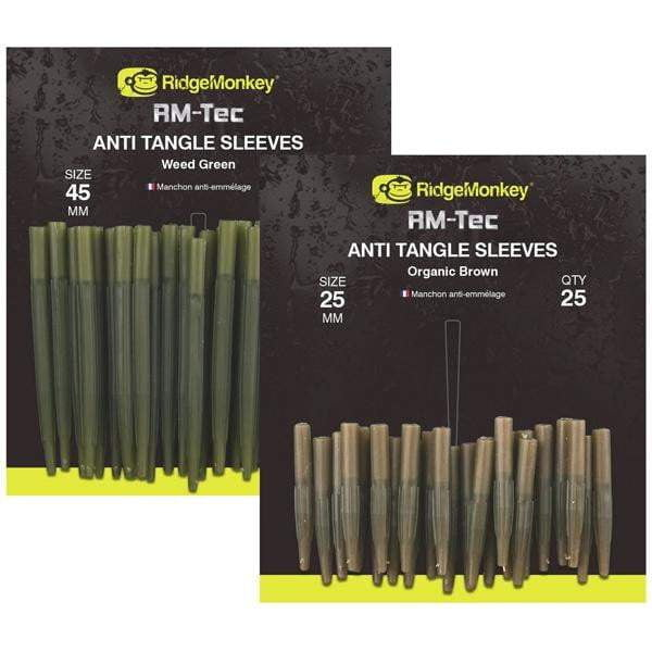 RidgeMonkey RM-Tec Anti Tangle Sleeves Organic Brown - taskers-angling