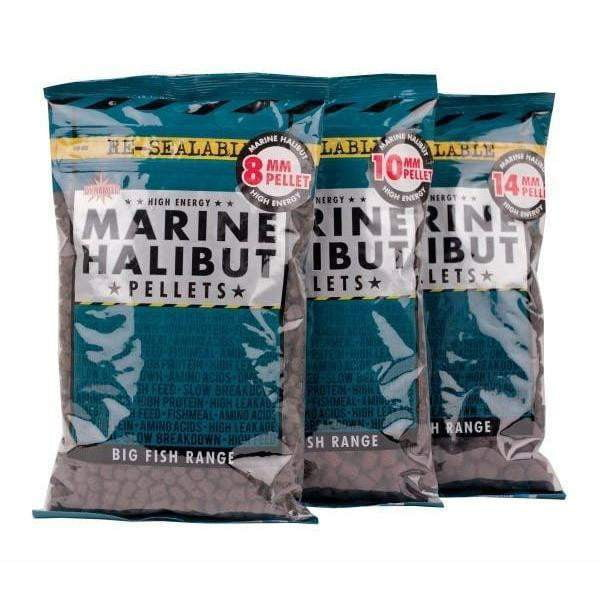 Marine Halibut Pellets 900g : 10mm - taskers-angling