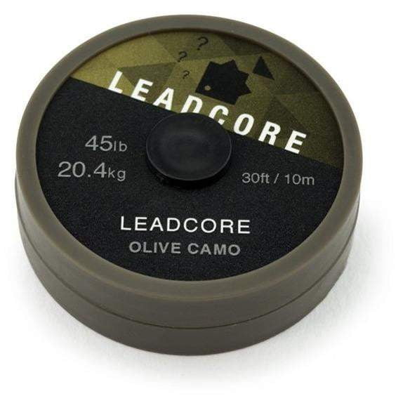 THINKING ANGLERS 10M LEADCORE 45LB OLIVE CAMO - taskers-angling