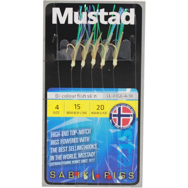 Mustad Bi-Colour Fish Skin Rig